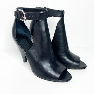 Marc Fisher Leather Peep Toe Heeled Bootie Size 9